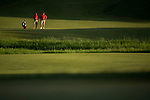 SUGAR GROVE, IL - MAY 29: Head Coach Chris Malloy and Braden Thornberry of Ole Miss share a moment on the 18th green during the Division I Men's Golf Individual Championship held at Rich Harvest Farms on May 29, 2017 in Sugar Grove, Illinois. Thornberry won the individual national title with a -11 score. (Photo by Jamie Schwaberow/NCAA Photos via Getty Images)