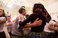 ROMANIA / Maramures / Budesti / 03.09.2006 ..All night folk dancing at a wedding celebration in one of the most traditional villages left in Europe. ..© Davin Ellicson / Anzenberger/