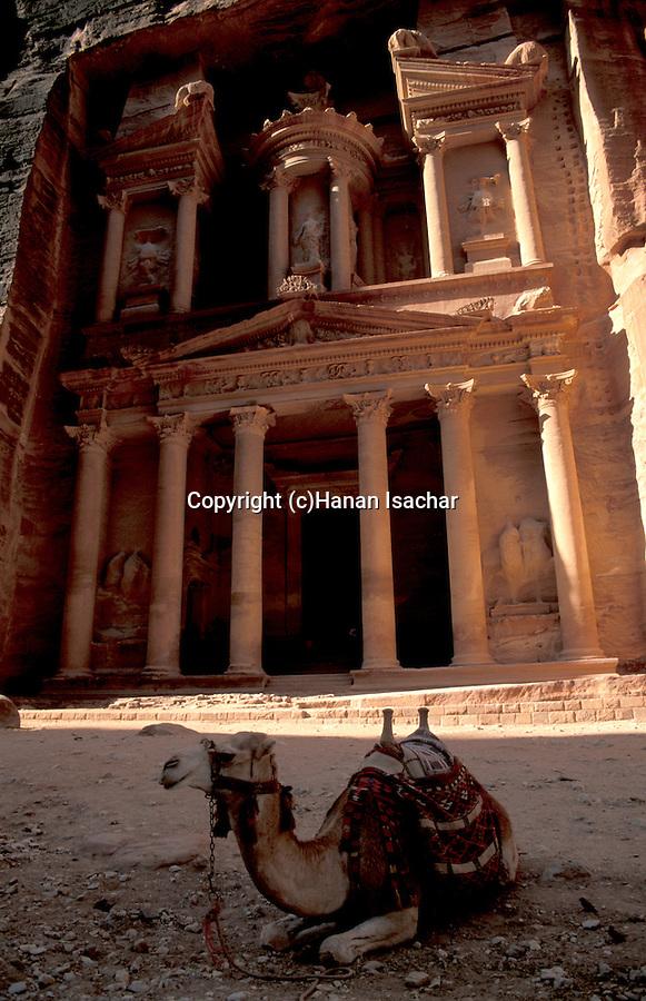 Jordan, Petra. The facade of the Treasury (Al Khazneh)&#xA;<br />