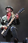 System of a Down - guitarist Daron Malakian performing live as the headline act on the Main Stage on Day 2 of the 2011 Download Festival at Donington Park UK - 11 Jun 2011.  Photo credit: George Chin/IconicPix