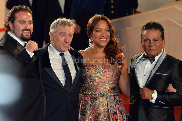 Jonathan Jakubowicz (Director), Robert De Niro and his wife Grace Hightower, Roberto Duran at the 'Hands of Stone' screening during The 69th Annual Cannes Film Festival on May 16, 2016 in Cannes, France.<br /> CAP/LAF<br /> &copy;Lafitte/Capital Pictures /MediaPunch ***NORTH AND SOUTH AMERICA ONLY***