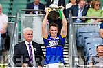 All Ireland Junior Football Final 6/8/2016<br /> Kerry's Paul O'Donoghue lifts the cup<br /> Pic : Lorraine O'Sullivan