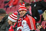 14.01.2018, RheinEnergieStadion, Koeln, GER, 1.FBL., 1. FC K&ouml;ln vs. Borussia M&ouml;nchengladbach<br /> <br /> im Bild / picture shows: <br /> Fans, freundlich, Stimmung, farbenfroh, Nationalfarbe, geschminkt, Emotionen, k&ouml;lner <br /> <br /> <br /> Foto &copy; nordphoto / Meuter