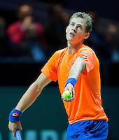 Februari 12, 2015, Netherlands, Rotterdam, Ahoy, ABN AMRO World Tennis Tournament, Vasek Pospisil (CAN)<br /> Photo: Tennisimages/Henk Koster