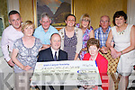 The Killarney and South Kerry ICS presented a cheque of €51,748.04 to the Irish Cancer Society in the International Hotel Killarney on Tuesday evening front row l-r: Maureen Fogarty, Mark Mellett ISC head of fundraising, Kathleen O'Shea. back row: Eugene O'Sullivan, Tim Moriarty, Eileen Kearney, Katrina Breen, Neilie Moynihan, and Anne Moynihan