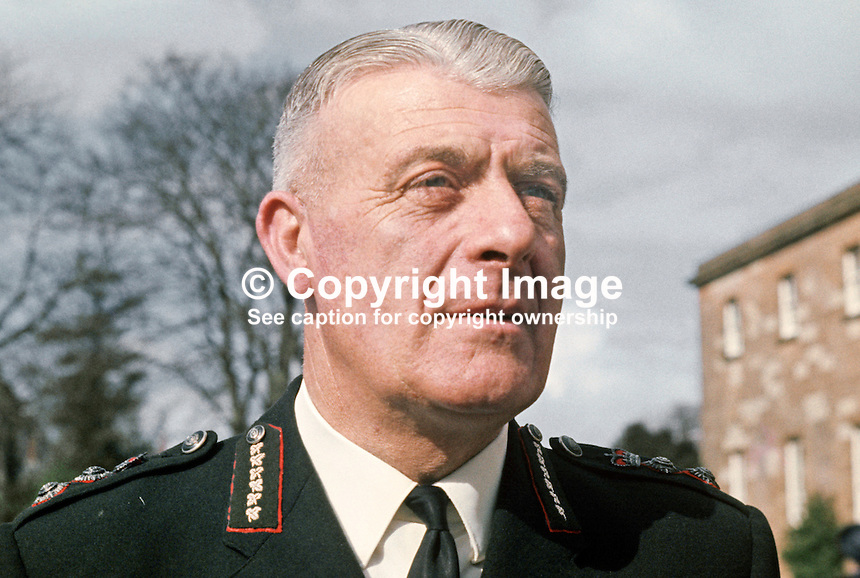 County Inspector Sam Bradley, Commissioner's Office, Royal Ulster Constabulary, Belfast, N Ireland, 197004170108.<br />