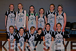 BASKETBALL: St Pauls Girls under 14 who defeated St Marys in the KAB Juvenille Cup on Sunday in Cumann Ioseaf GYM, the team. Tara O'Shea, Flaine Courtney, Jennifer Fitzgerald, Mairead O'Donoghue, Claire Buckley, Annie and Tracey Sheahan, Juliette Kelly, Carmel Kate Kelliher, mairead B O'Donoghue, Liselle O'Shea (mascot) and Liadh Tobin..........