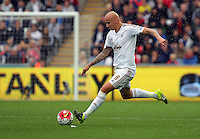 Pictured: Jonjo Shelvey of Swansea Sunday 30 August 2015<br /> Re: Premier League, Swansea v Manchester United at the Liberty Stadium, Swansea, UK
