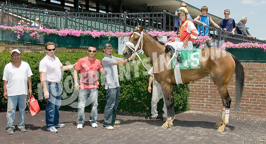 Gagne winning at Delaware Park on 7/11/12