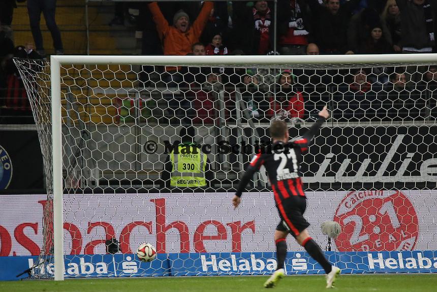 Torjubel Eintracht FRankfurt beim 1:0 - Eintracht Frankfurt vs. SV Werder Bremen, Commerzbank Arena
