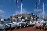 Italy ,Campania ,Naples,Napoli,Porto d Santa Lucia et Castel Dell'Ovo