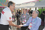 November 12 2011 - Guadalajara, Mexico:  CEO Henry Storgaard welcomes Lieutenant Governor Honorable David Onley to the Athletes Village at the 2011 Parapan American Games.  Photos: Matthew Murnaghan/Canadian Paralympic Committee