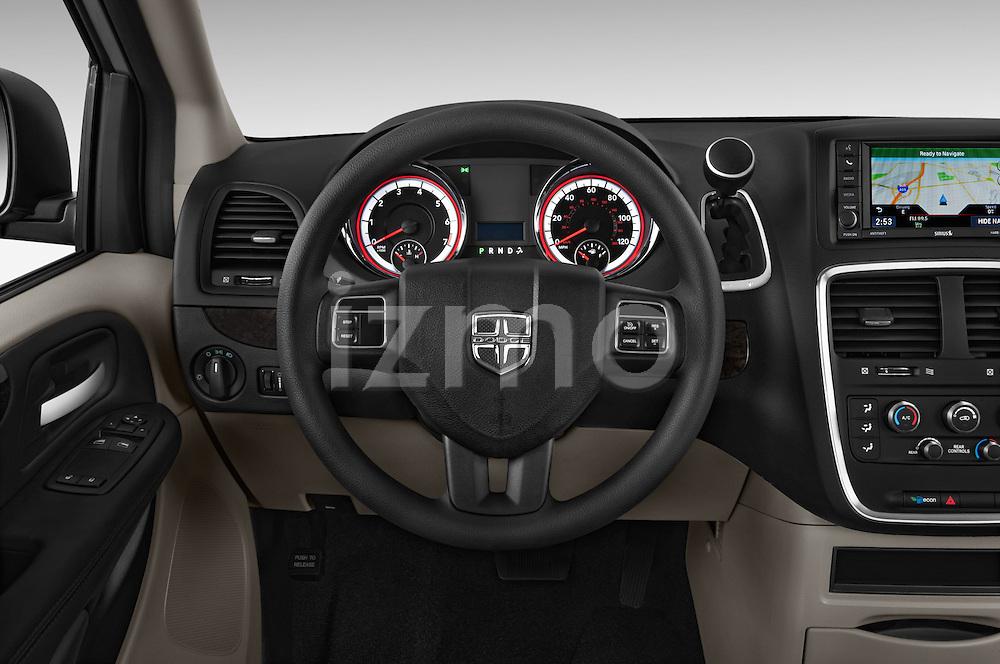 Car pictures of steering wheel view of a 2018 Dodge Grand-Caravan SE 5 Door Minivan Steering Wheel