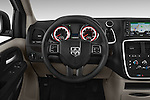 Car pictures of steering wheel view of a 2017 Dodge Grand-Caravan SE 5 Door Minivan Steering Wheel
