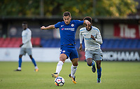 Eden Hazard of Chelsea in action during the U23 Premier League 2 match between Chelsea and Everton at the EBB Stadium, Aldershot, England on 25 August 2017. Photo by Andy Rowland.