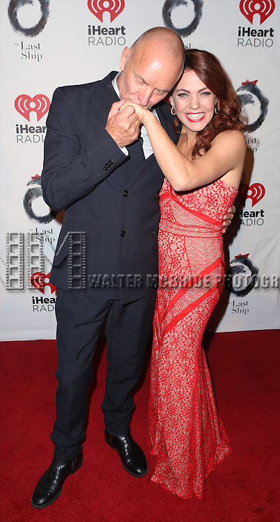 Sting and Rachel Tucker attend the Broadway Opening Night After Party for 'The Last Ship' at Pier 60 on October 26, 2014 in New York City.