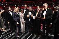 Faye Dunaway, Sally Hawkins, Doug Jones, Guillermo del Toro, guest, and Warren Beatty pose on stage during The 90th Oscars&reg; at the Dolby&reg; Theatre in Hollywood, CA on Sunday, March 4, 2018.<br /> *Editorial Use Only*<br /> CAP/PLF/AMPAS<br /> Supplied by Capital Pictures