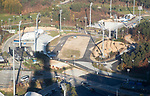 Alpensia Cross-Country Centre, Oct 30, 2017 : Alpensia Cross-Country Centre (C) in Alpensia Olympic Park of the 2018 PyeongChang Winter Olympics, is seen in PyeongChang, east of Seoul, South Korea. The 23rd Winter Olympics will be held for 17 days from February 9 - 25, 2018. The opening and closing ceremonies and most snow sports will take place in PyeongChang county. Jeongseon county will host Alpine speed events and ice sports will be held in the coast city of Gangneung. (Photo by Lee Jae-Won/AFLO) (SOUTH KOREA)