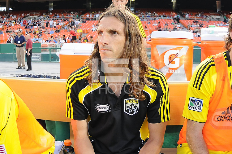 Columbus Crew defender Frankie Hejduk.   The Columbus Crew defeated DC United 1-0 at RFK Stadium, Saturday September 4, 2010.