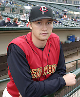 August 13, 2004:  Pitcher Scott Baker of the Rochester Red Wings, Triple-A International League affiliate of the Minnesota Twins, during a game at Frontier Field in Rochester, NY.  Photo by:  Mike Janes/Four Seam Images