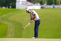Hideto Tanihara putts on the 1st green during the BMW PGA Golf Championship at Wentworth Golf Course, Wentworth Drive, Virginia Water, England on 28 May 2017. Photo by Steve McCarthy/PRiME Media Images.