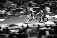 slingshot relay by track masters Iljo Keisse (BEL/Etixx-QuickStep) &amp; Michael M&oslash;rk&oslash;v (DEN/Tinkoff-Saxo)<br /> <br /> 2015 Gent 6