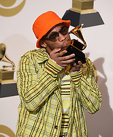 LOS ANGELES - FEBRUARY 10: Anderson .Paak, winner of Best Rap Performance 'Bubblin' in the press room at the 61st Grammy Awards at Staples Center on February 10, 2019 in Los Angeles, California. (Photo by Frank Micelotta/PictureGroup)