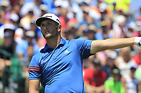 Jon Rahm (ESP) tees off the 1st tee to start his match during Friday's Round 2 of the 117th U.S. Open Championship 2017 held at Erin Hills, Erin, Wisconsin, USA. 16th June 2017.<br /> Picture: Eoin Clarke | Golffile<br /> <br /> <br /> All photos usage must carry mandatory copyright credit (&copy; Golffile | Eoin Clarke)
