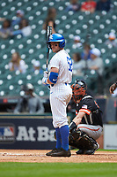 Ben Aklinski (52) of the Kentucky Wildcats looks to the third base coach for the sign during the game against the Sam Houston State Bearkats during game four of the 2018 Shriners Hospitals for Children College Classic at Minute Maid Park on March 3, 2018 in Houston, Texas. The Wildcats defeated the Bearkats 7-2.  (Brian Westerholt/Four Seam Images)