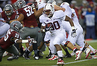 SEATTLE, WA - September 28, 2013: Stanford running back Ricky Seale rushes the ball during play against Washington State at CenturyLink Field. Stanford won 55-17