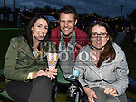 Grace and Marianne Shorten and Trevor Dunphy at the East Meath United outdoor Cinema night. Photo:Colin Bell/pressphotos.ie