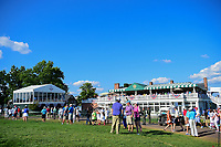 The gallery grows near the Clubhouse during Sunday's final round of the 72nd U.S. Women's Open Championship, at Trump National Golf Club, Bedminster, New Jersey. 7/16/2017.<br /> Picture: Golffile | Ken Murray<br /> <br /> <br /> All photo usage must carry mandatory copyright credit (&copy; Golffile | Ken Murray)