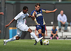 Sept. 9, 2012; Leon Brown (9) vs Akron. Notre Dame won 3-1...Photo by Matt Cashore/University of Notre Dame