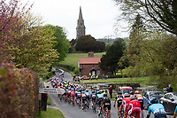 Picture by SWpix.com - 03/05/2018 - Cycling - 2018 Tour de Yorkshire - Stage 1: Beverley to Doncaster - The peloton passes the St Marys Church