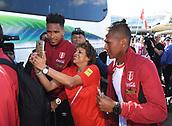2017 Peru Football team arrive in New Zealand Nov 7th