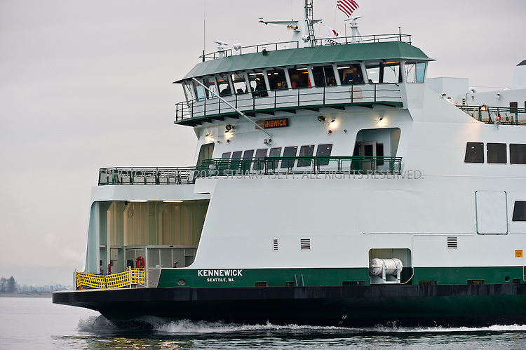10/7/2011--Everett, WA, USA<br /> <br /> Vigor shipyards continued sea trials for their latest ferry, the Kennewick, out of Everett, WASH., for a second day in preparation to deliver  the 64-car vessel to Washington State Ferries. The first two sea trials are set for Oct. 6-7 with the vessel leaving and returning to the Everett Shipyard. Vigor will test the new ferry's operational systems in preparation of demonstrating the vessel to WSF and the U.S. Coast Guard the following week. WSF is scheduled to accept delivery of the new ferry from Vigor late this month.<br /> <br /> WSF plans on putting the Kennewick into service in January, 2011.<br /> <br /> Photograph by Stuart Isett/Vigor