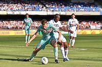 ATENÇÃO EDITOR: FOTO EMBARGADA PARA VEÍCULOS INTERNACIONAIS - SÃO PAULO, SP, 18 DE NOVEMBRO DE 2012 - CAMPEONATO BRASILEIRO - SÃO PAULO x NAUTICO: Wellington (c) durante partida São Paulo x Nautico válida pela 36ª rodada do Campeonato Brasileiro de 2012 no Estádio do Morumbi. FOTO: LEVI BIANCO - BRAZIL PHOTO PRESS
