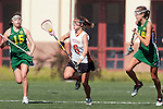 Santa Barbara, CA 02/13/10 - Stephanie Roberts (Texas #6) and Mary Walsh (Oregon #16) in action during the Texas-Oregon game at the 2010 Santa Barbara Shoutout, Texas defeated Oregon 11-9.