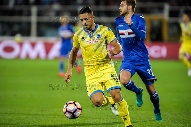 Gianluca Caprari (Pescara) during the Italian Serie A football match Pescara vs Sampdoria on October 15, 2016, in Pescara, Italy. Photo Adamo Di Loreto/BuenaVista*photo