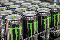 Monster brand energy drinks in a supermarket in New York on Thursday, June 8, 2017. Shares of the Monster Beverage Company rose 11% in May after its first-quarter earnings topped analysts' expectations. (© Richard B. Levine)