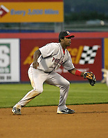 September 2, 2004:  Shortstop Hanley Ramirez of the Portland Sea Dogs, Double-A Eastern League affiliate of the Boston Red Sox, during a game at NYSEG Stadium in Binghamton, NY.  Photo by:  Mike Janes/Four Seam Images