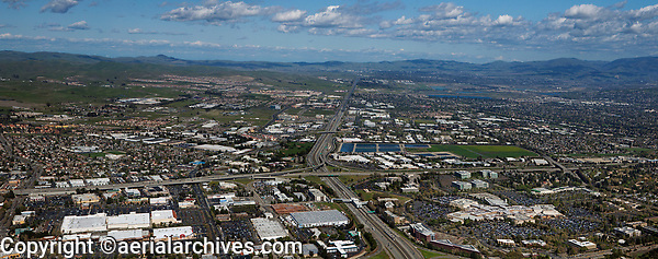 aerial photograph Dublin, Pleasanton, Livermore, Alameda County, California