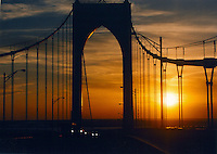 Took a risk stopping for this picture while driving across the Newport Bridge.