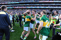 Kerry players celebrate  in the All-Ireland Football Final against Donegal in Croke Park 2014.<br /> Photo: Don MacMonagle<br /> <br /> <br /> Photo: Don MacMonagle <br /> e: info@macmonagle.com