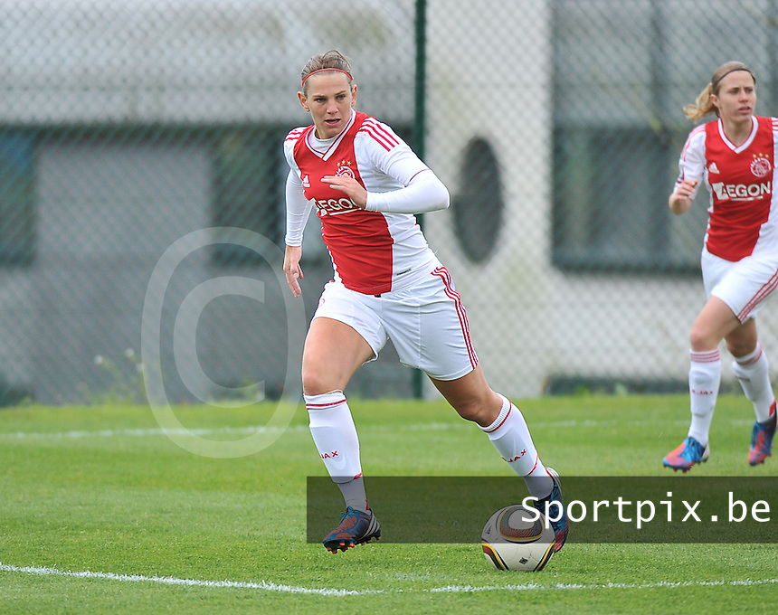 RSC Anderlecht Dames - Ajax Amsterdam : Chantal De Ridder.foto DAVID CATRY / Nikonpro.be