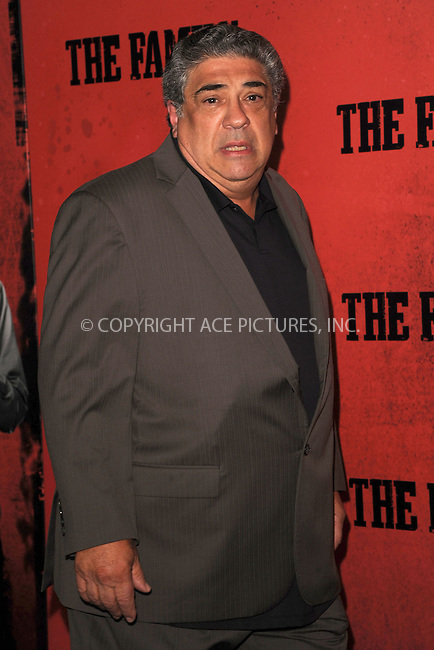 WWW.ACEPIXS.COM<br /> September 10, 2013 New York City<br /> <br /> Vincent Pastore attending the World Premiere of &quot;The Family&quot; in New York City on September 10, 2013. <br /> By Line: Kristin Callahan/ACE Pictures<br /> <br /> ACE Pictures, Inc.<br /> tel: 646 769 0430<br /> Email: info@acepixs.com<br /> www.acepixs.com<br /> Copyright:<br /> Kristin Callahan/ACE Pictures