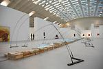 Opera di Mario Merz a Museo Museo Museo 1998/2006 - Otto anni di acquisizioni della GAM  in mostra a Torino Esposizioni. Mario Merz work in a Contemporary Art Exhibition in the Torino Expo building.