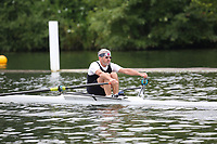 Race: 105  MasF.1x  Semi-Final<br /> 143  Walton Rowing Club (Adey)<br /> 146  Dart-Totnes Amateur Rowing Club (Atkinson)<br /> <br /> <br /> Henley Masters Regatta 2018 - Friday<br /> <br /> To purchase this photo, or to see pricing information for Prints and Downloads, click the blue 'Add to Cart' button at the top-right of the page.