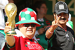 22 JUN 2010: Mexico fans, pregame. The Mexico National Team played the Uruguay National Team at Royal Bafokeng Stadium in Rustenburg, South Africa in a 2010 FIFA World Cup Group A match.