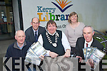 Kerry Library have launched a collection of postcards to mark The Gathering depicting Kerry towns past and present. .Front L-R archivist Michael Lynch, Mayor of Kerry Cllr Terry O'Brien and Tommy O'Connor. .Back L-R Director of Services John Breen and Noirin O'Keeffe.